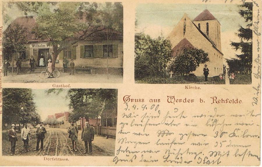 Postkarte Werder 1900