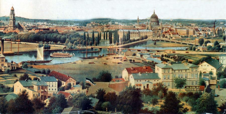 Potsdamer Stadtblick vom Brauhausberg 1871, Foto: cc