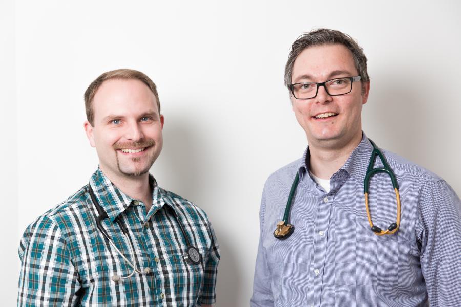 Dr. D. Leger (links) und Dr. R. Mauser (rechts)