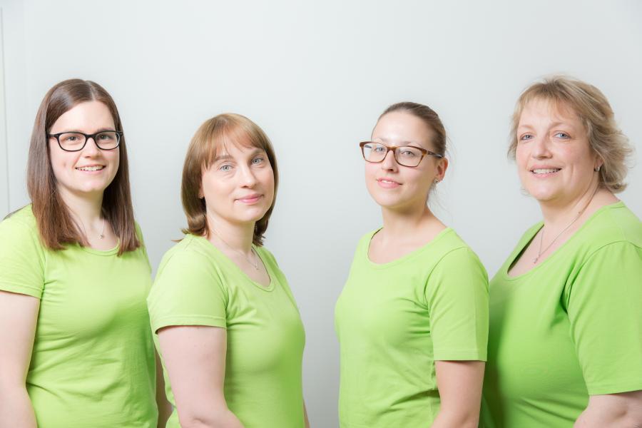 Von links nach rechts: Jessica Braun, Andrea Settler (Erstkraft), Lena Kreußer, Heidi Schmid