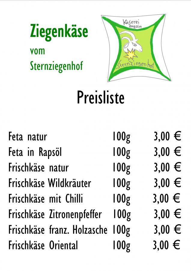 Preisliste Sternziegenhof Augzin