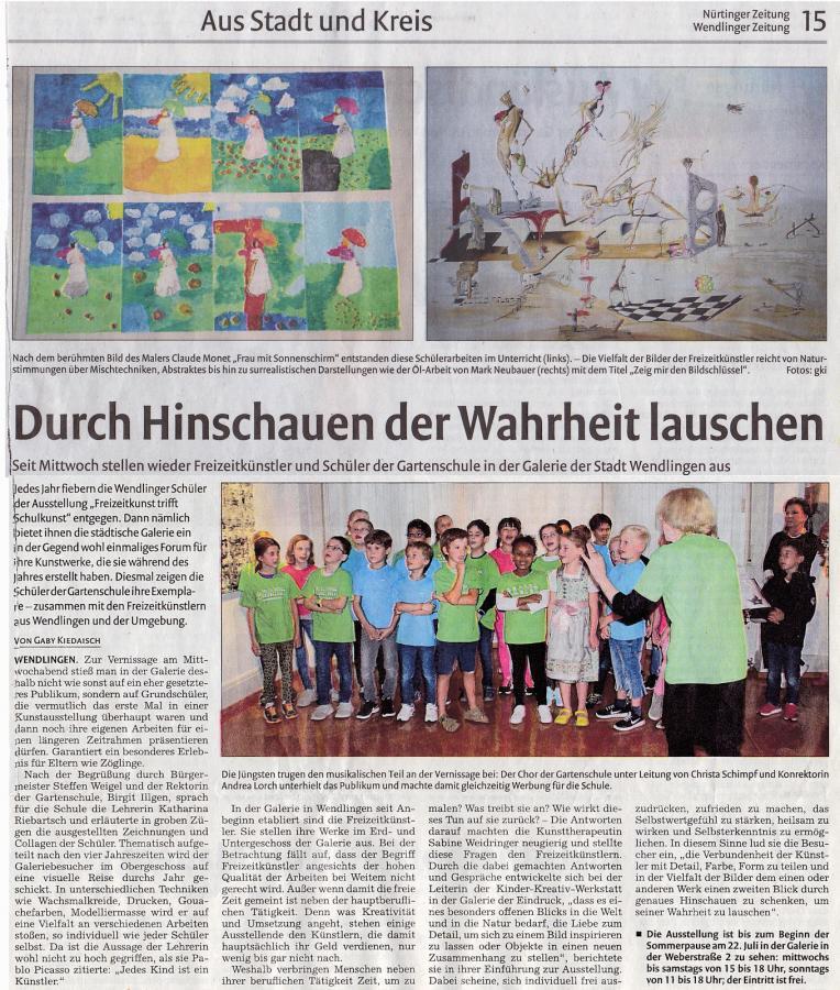Vernissage Freizeit Wendlinger Zeitung