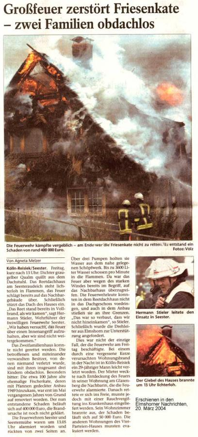Artikel Elmshorner Nachrichten, 20.03.2004