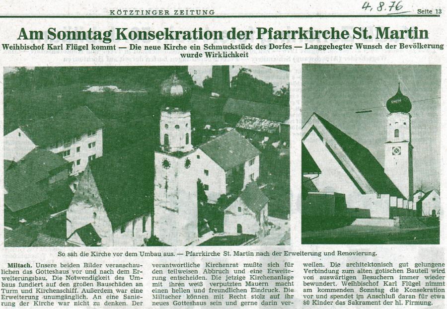Weihe der Kirche Miltach 3