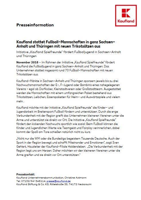 Presseinfo Kaufland
