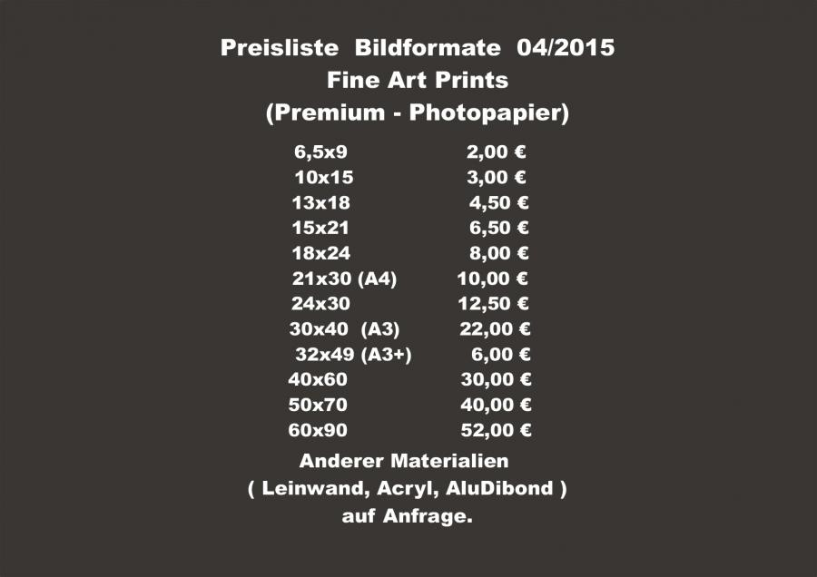 Photo Art Studio Bombeck Preise Printformate