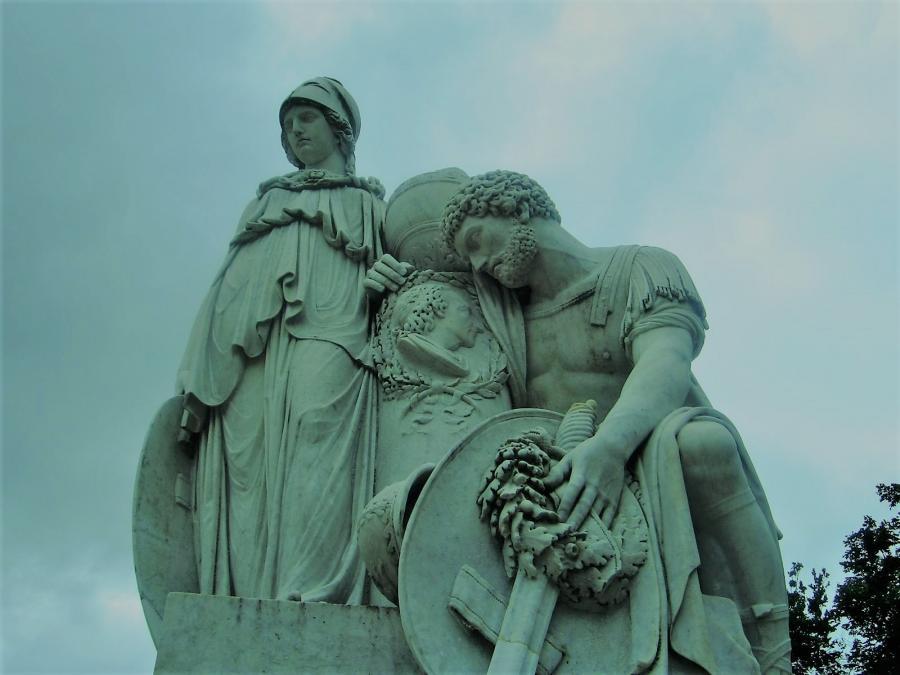 "Das ""Prittwitz-Denkmal"" in Neuhardenberg"