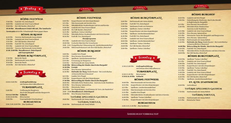 Programm Burgfest 2