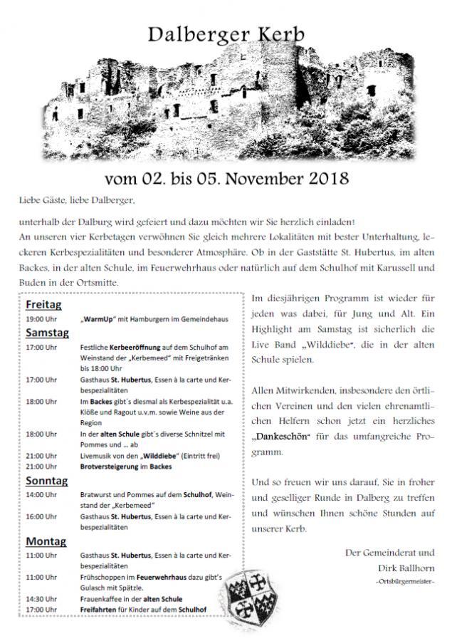 Programm Kerb 2018
