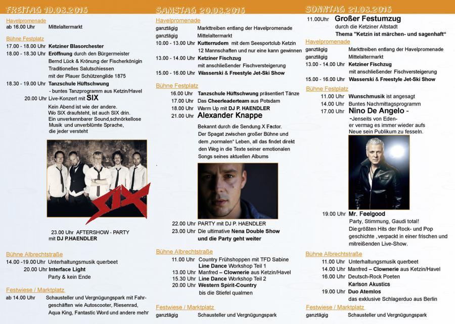 Programm Ketziner Fischerfest 2016