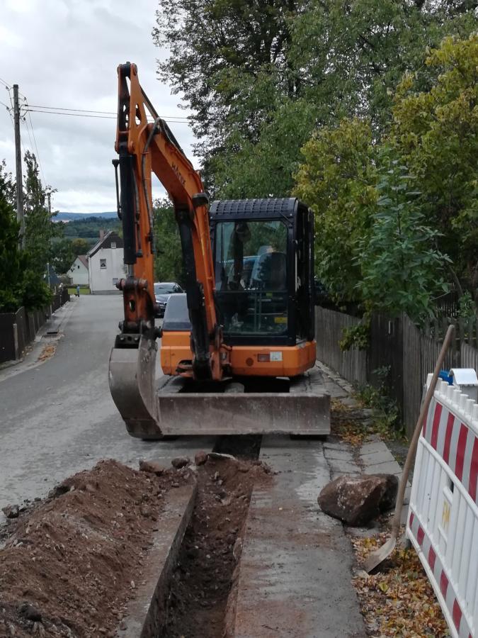 Blick auf die Bauarbeiten