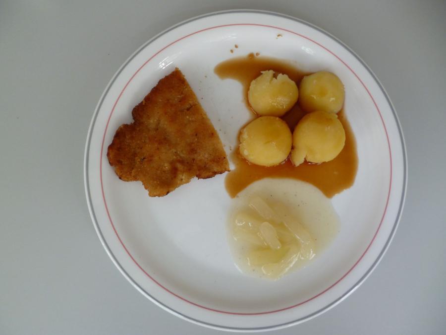 Putenschnitzel mit Kartoffeln