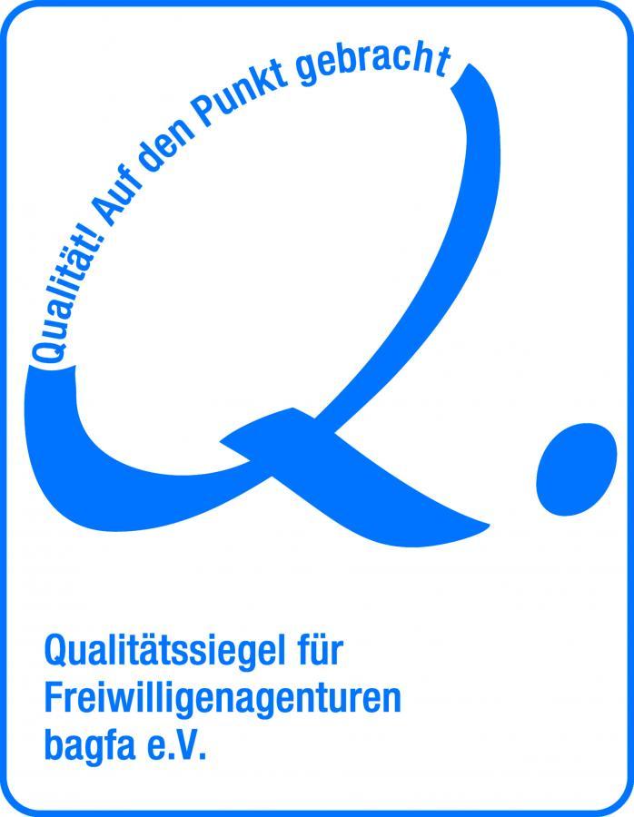 Bild zeigt das Qualitätssiegel der Bundesarbeitsgemeinschaft der Freiwilligenagenturen; Bild: Bundesarbeitsgemeinschaft der Freiwilligenagenturen