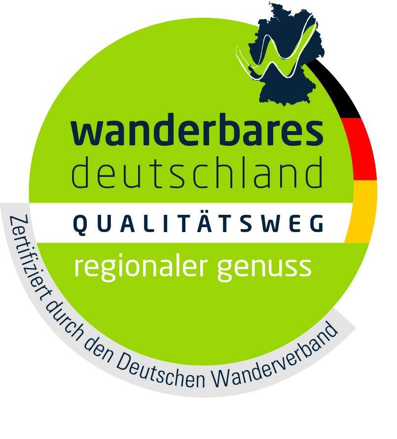 Zertifikat Deutscher Wanderverband- Qualitätswanderweg regionaler Genuß