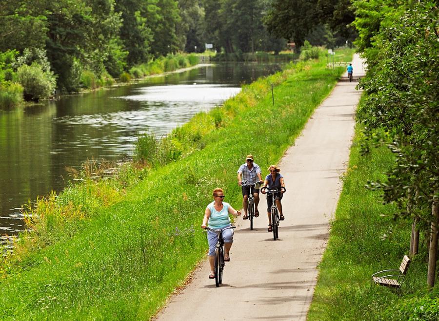 Fahrradfreundliches Oranienburg: Radfahren entlang des Oranienburger Kanals. (Foto: Frank Liebke)
