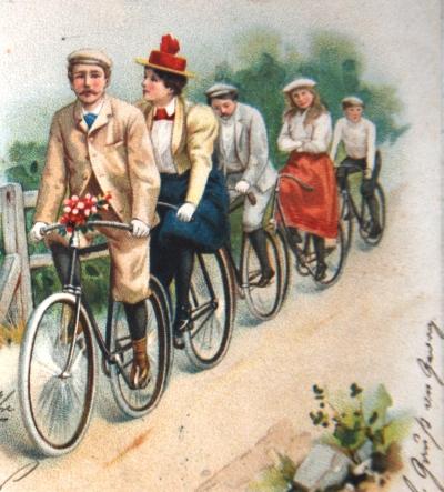 Radgruppe Postkarte Deutsches Fahrradmuseum