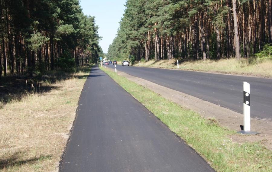 Erneuerter Radweg zwischen Sachsenhausen und Friedrichsthal