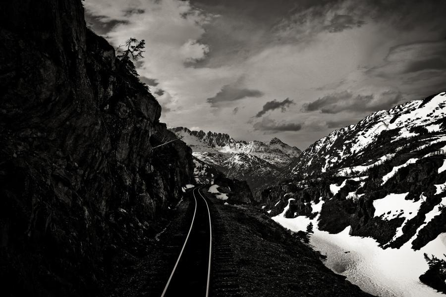 Winterliche Eisenbahnromantik