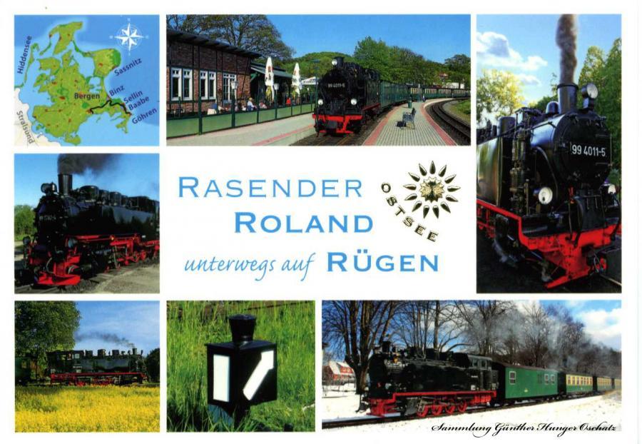Rasender Roland unterwegs auf Rügen