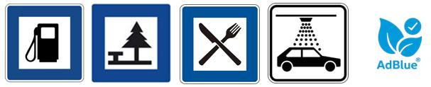 Rastplatz-Symbole