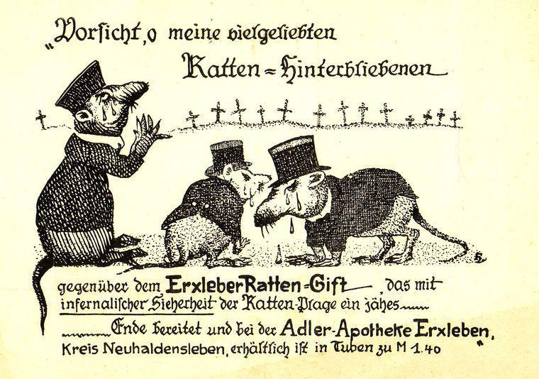Warnung an hinterbliebene Ratten.