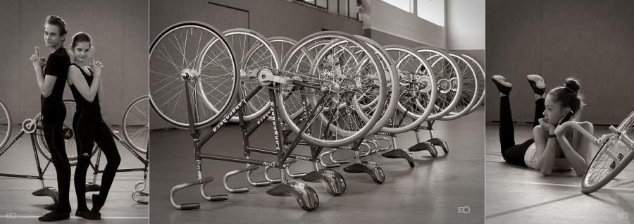 Richard, Charlott, Lina und einige Fahrräder