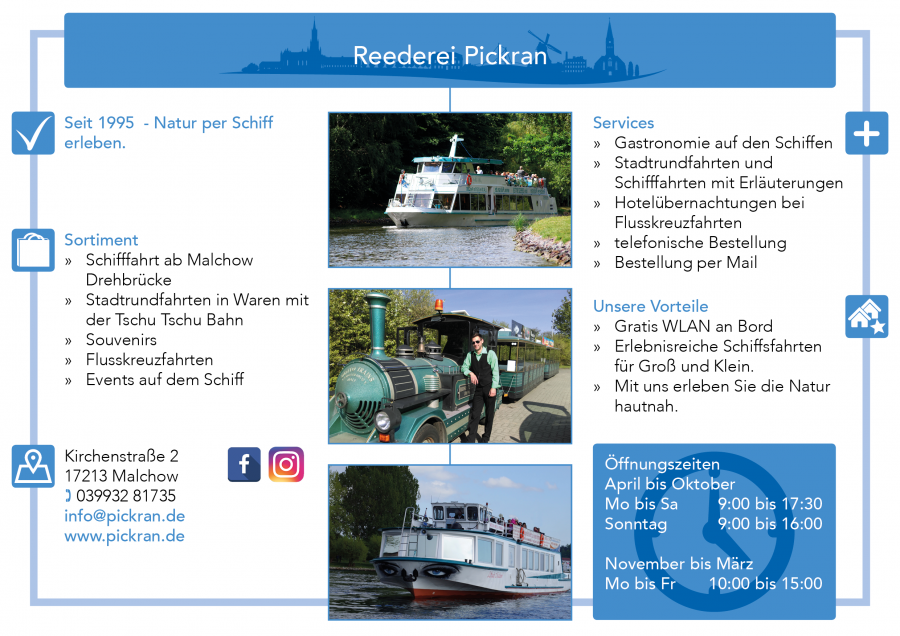 Reederei Pickran Malchow Seenplatte