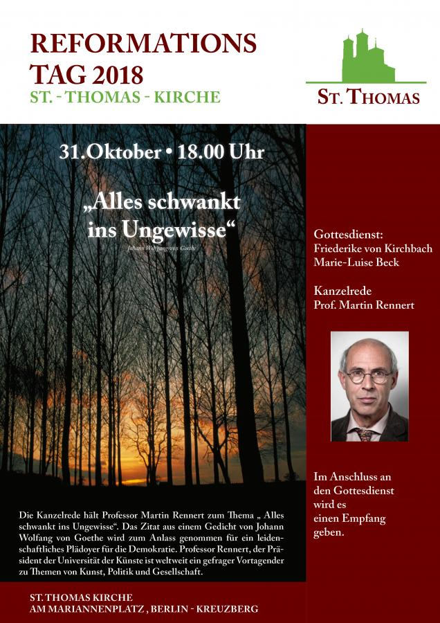 Plakat Reformationstag