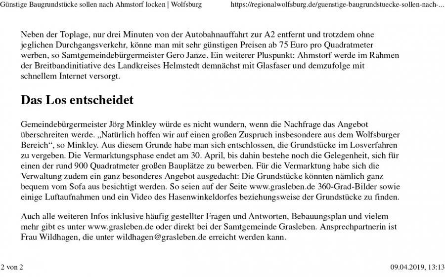 Bericht bei regionalwolfsburg.de vom 05.04.2019_Teil 2