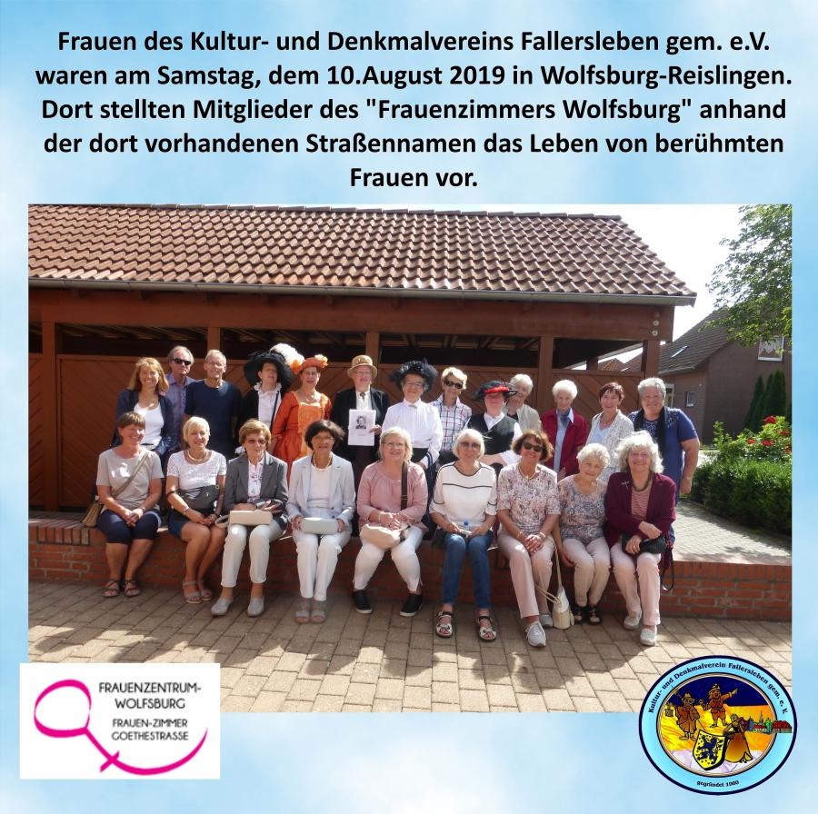 Kultur-u. Denkmalverein in Reislingen August 2019