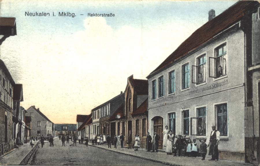 "Ansichtskarte ""Rektorstraße"" um 1900"