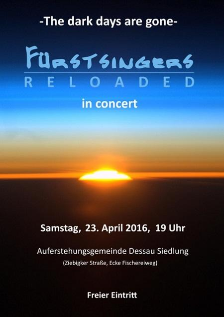 Konzert der Fürstsingers RELOADED am 23. April