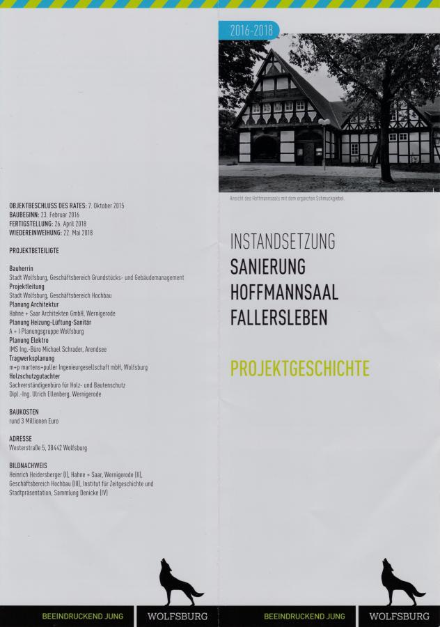 Renovierung Hoffmann-Saal Fallersleben 1