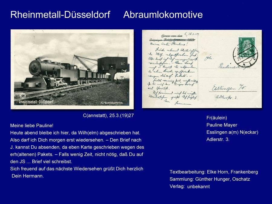 Rheinmetall-Düsseldorf Abraumlokomotive