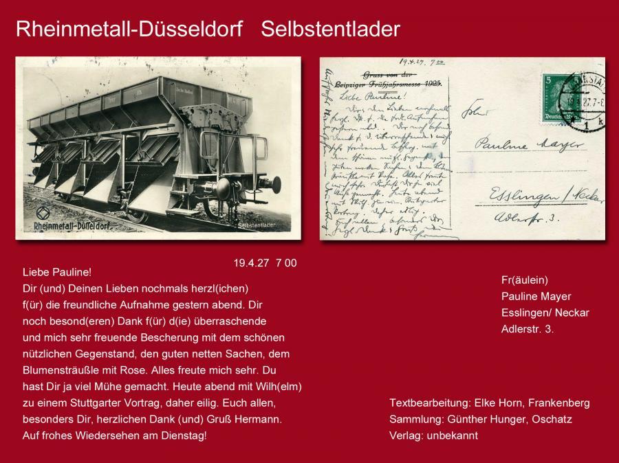Rheinmetall-Düsseldorf  Selbstentlader