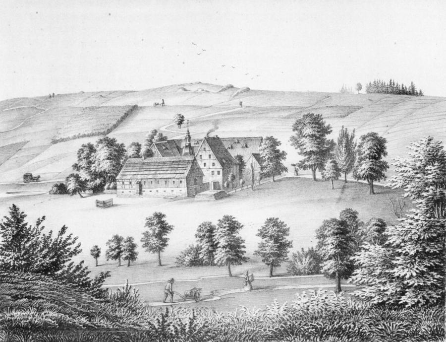 Rittergut Voigtsdorf - zeitgenössische Darstellung