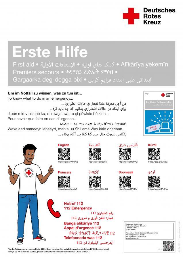 Mehrsprachiges Erste-Hilfe-Wissen
