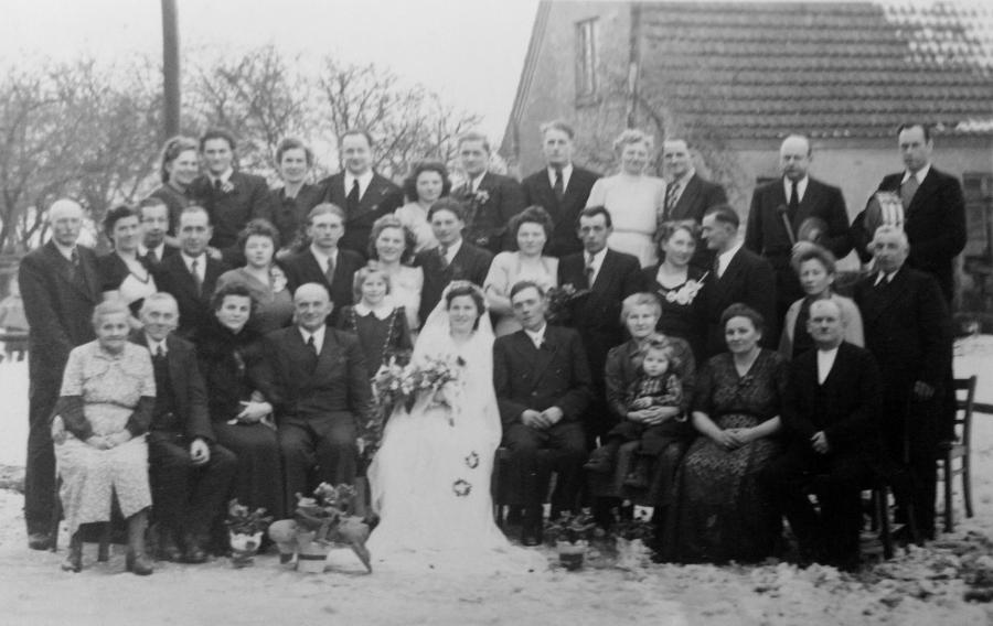 Hochzeit in Schwarzenhof um 1950