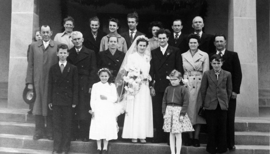 Hochzeit Anna und Rudolf Rötlich 1956 (2)