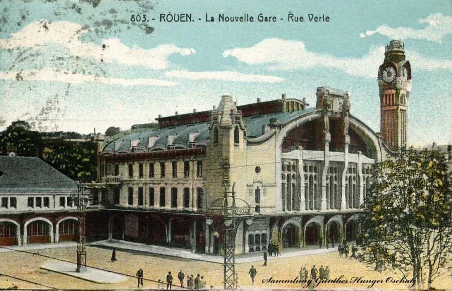 Rouen La Novelle Gare Rue Verte