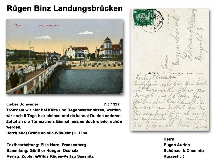 Rügen Binz Landungsbrücken 1927