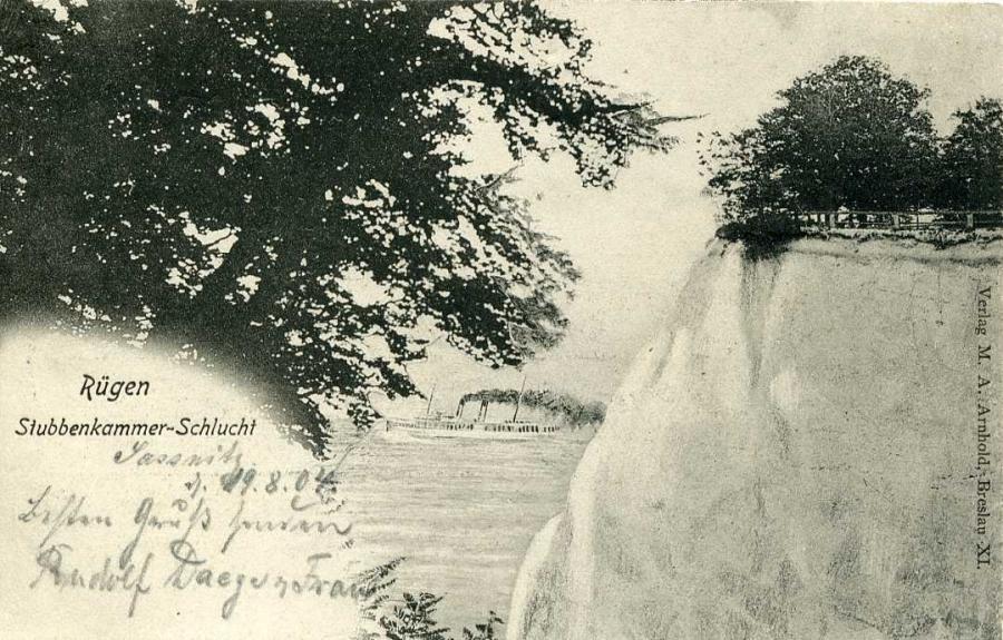 Rügen Stubbenkammer - Schlucht 1904