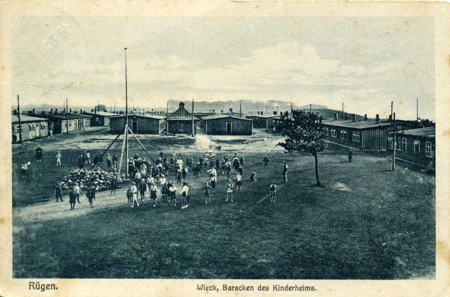 Rügen Wieck Baracken des Kinderheims 1926