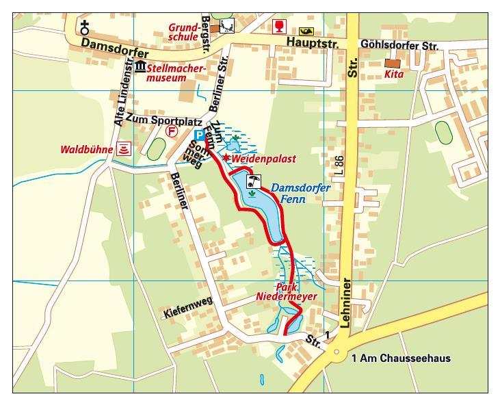 Karte_Rundweg Damsdorfer Fenn