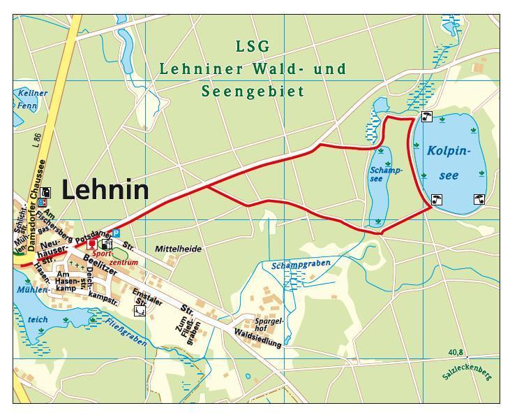 Karte_Rundweg Schamp- und Kolpinsee