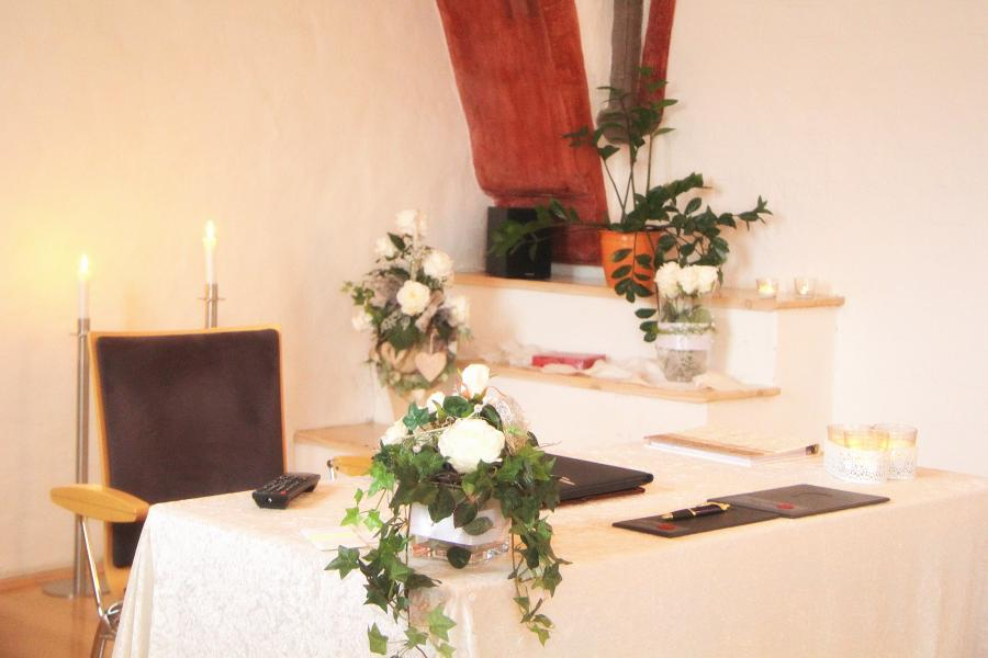 Trauzimmer Kempff-Saal im Mönchenkloster 7