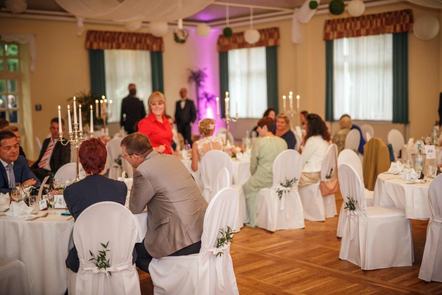 Hochzeit mit Gäste