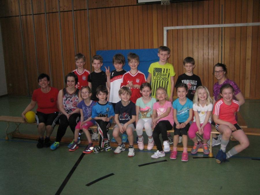 Die Kinder der Sportarbeitsgemeinschaft 2014/15