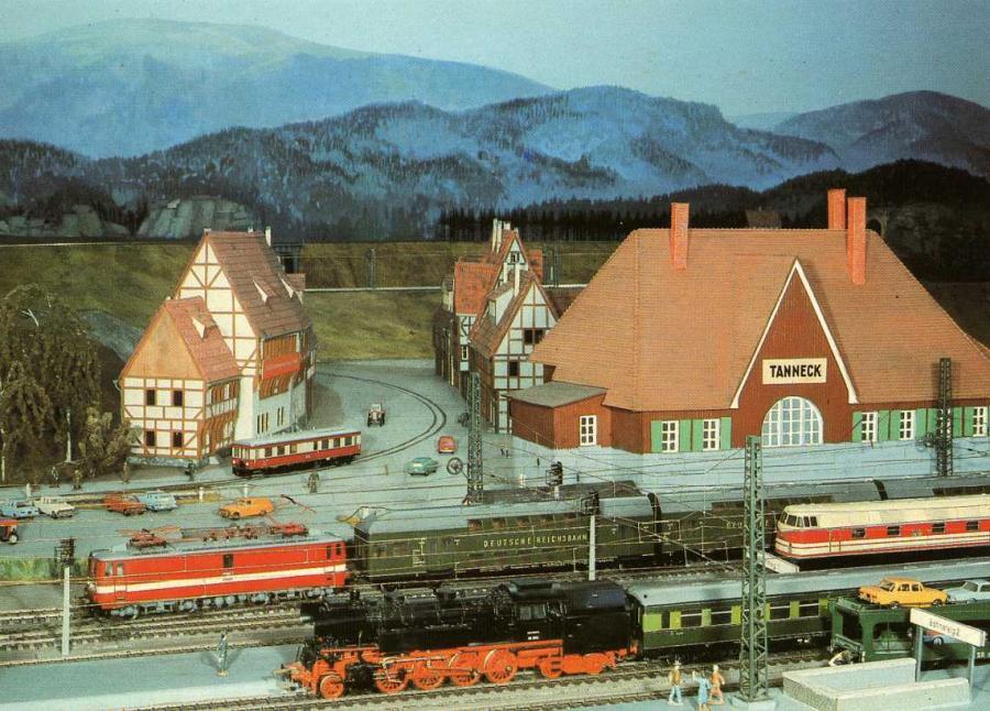 Eisenbahn postkarten museum modelleisenbahn