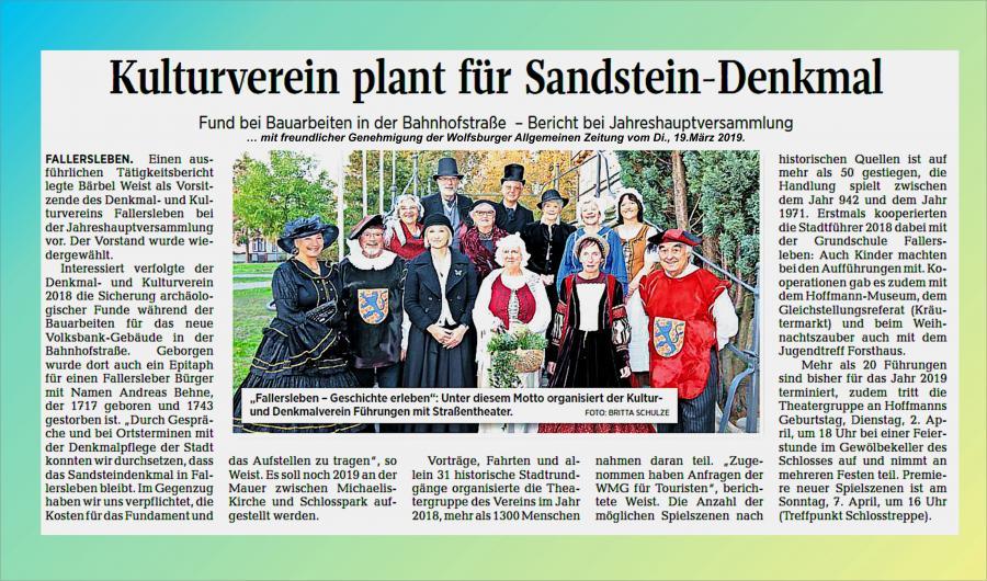 Zeitungsbericht_Jahreshauptversammlung_2019
